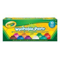 Crayola - 10 Pots de Peinture lavable