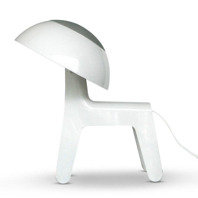 H43 8cm Lampe Poser Dog Sol À De Propaganda Lamp Blanc PiOkuXZTlw