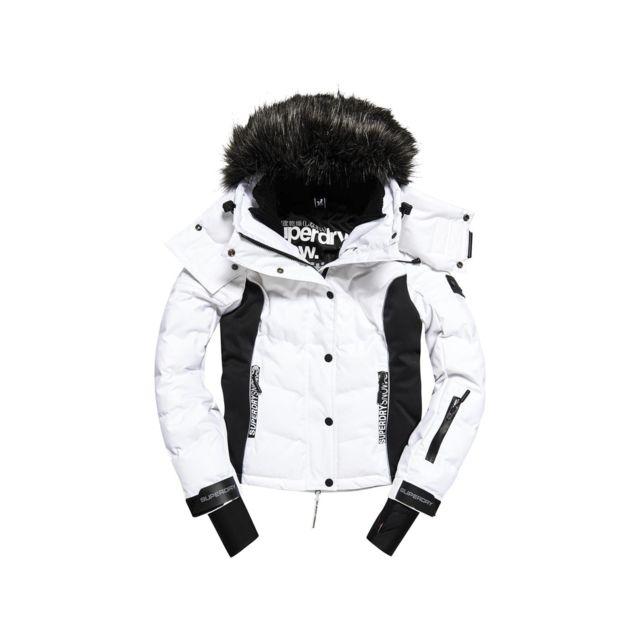 Snow Puffer Blouson De Ski Femme SUPERDRY BLANC pas cher