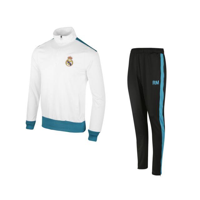 01085da1e7333 Made In Sport - Survêtement Real Madrid Blanc/noir - pas cher Achat ...