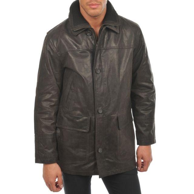 8e96ec9d6679 ARTURO - Veste cuir Couleur - marron, Taille Homme - M - pas cher ...