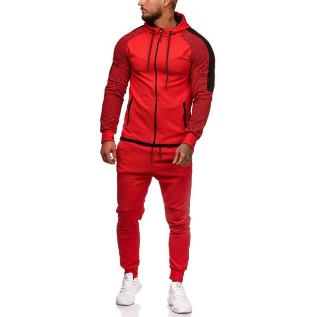 Violento Survetement fashion homme Survêt 1121 rouge