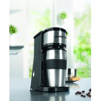 Gourmet-Maxx - Cafetière individuel compacte inox - Avec gobelet isotherme