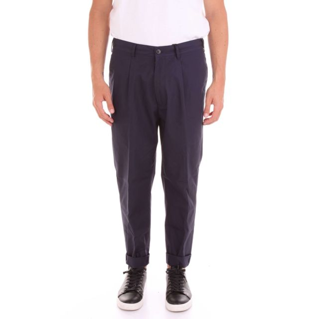 Covert Homme Im6017IC253BLU Bleu Coton Pantalon