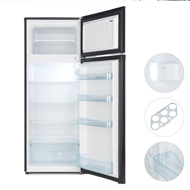 KLARSTEIN - Height Cool Black Combiné réfrigérateur congélateur 199/53l Classe A