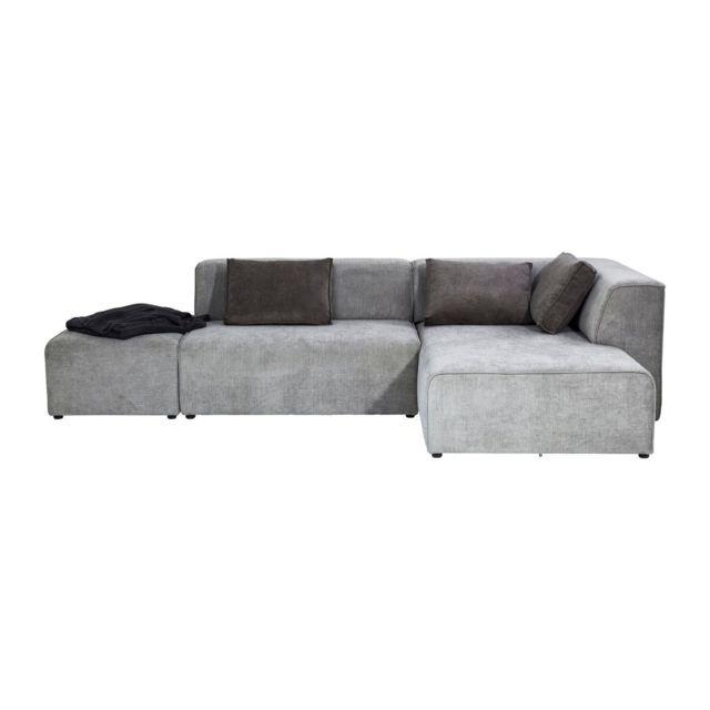 Karedesign Canapé d angle Infinity droite gris Kare Design