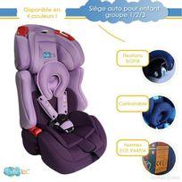 Bebe Lol - Siège auto évolutif Isofix Bébélol® pour enfant groupe 1+2+3 normes Ece R44/04 - violet
