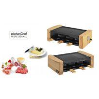 Kitchen Chef - Raclette 6 Personnes 900W Finition Bois Wood6