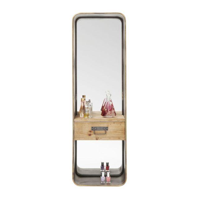 Karedesign Miroir Curve à tiroir 120x36cm Kare Design