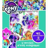 Cerf Volant - mon bloc de gommettes ; my little Pony ; l'amitié, c'est magique ; 40 gommettes et 8 jeux