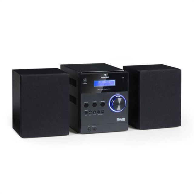 AUNA MC-20 DAB Micro chaîne stéréo CD MP3 radio FM DAB+ Bluetooth - noir
