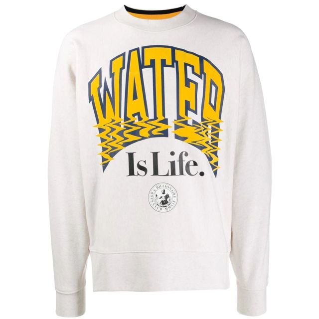 Billionaire Boys Club Homme B19210WHITE Blanc Coton Sweatshirt