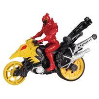 POWER RANGERS DINO SUPER CHARGE - Moto Cascade + Figurine 12 cm - Rouge - 43077