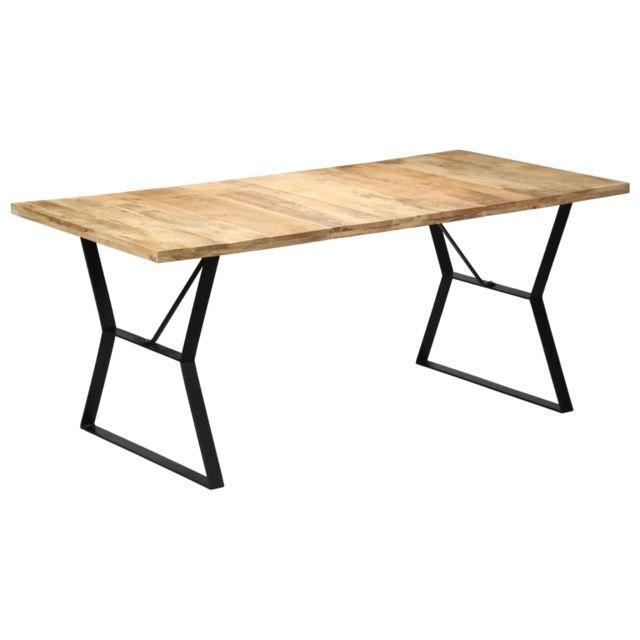 Splendide Tables famille Freetown Table de salle à manger 180x90x76 cm Bois de manguier massif