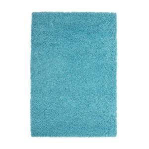 soldes deladeco tapis de salon uni en polypropyl ne bleu clair hollywood pas cher achat. Black Bedroom Furniture Sets. Home Design Ideas