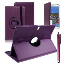 Vcomp - Housse avec support Et Rotation 360° en cuir Pu pour Samsung Galaxy Tab Pro 12.2 Sm-t9000/ Tab Pro 12.2 3G T900/ Tab Pro 12.2 Lte 4G Sm-t905 + stylet - Violet