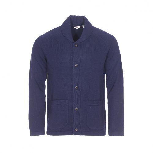 51b83574d815 Levi s - Cardigan en laine bleu marine - pas cher Achat   Vente Gilet homme  - RueDuCommerce