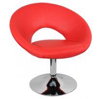 Fauteuil Rouge Design Pied Chrome Achat Fauteuil Rouge Design - Fauteuil rouge design