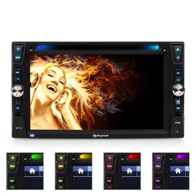 AUNA MVD-481 Autoradio DVD USB SD AUX MIC