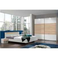 Inside 75 - Chambre à coucher Thalia 160 200cm blanche/hêtre