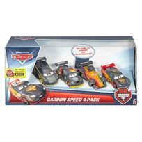 Cars - coffret 4 carbon racers - Dhm95
