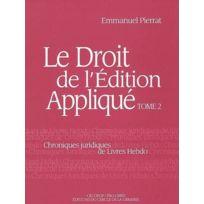 Electre - ²; Le Droit De L'EDITION Applique T.2