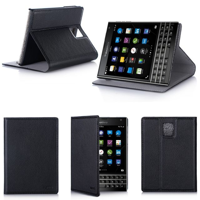 Xeptio - Blackberry Passport noir avec stand