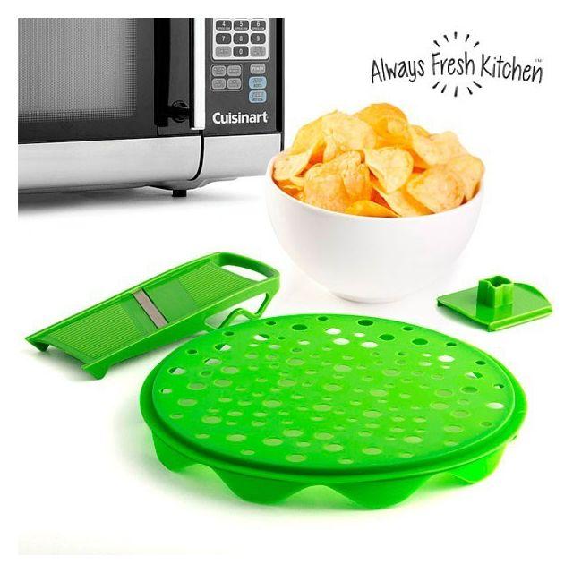 Totalcadeau Accessoires pour la conception de Chips faits maison - Une mandoline et d un plateau