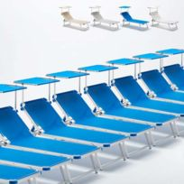 Beach And Garden Design - Set 20 Bains De Soleil En Aluminium Pour