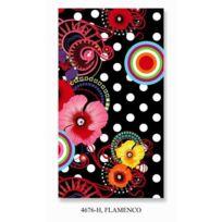 Hip - Serviette de Plage Flamenco 100x180 cm noir et rose