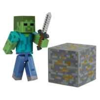 Minecraft - 16509 - Jeu De Construction - Zombie De Base Avec Accessoires
