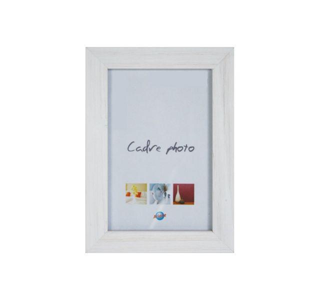 Ariane Cadre photo 10x15cm en bois blanc, coloris tendances