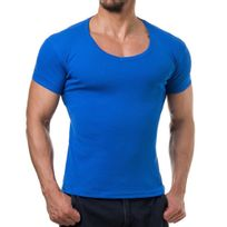 Young And Rich - Tee shirt homme fashion Tee shirt 874 bleu roi