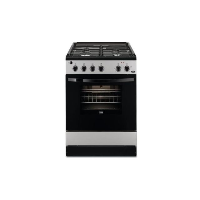 Faure Fcm640hcsa-cuisiniere Table Mixte Gaz / Electrique-4 Foyers-four Electrique-catalyse-56 L-a-l 60 X H 88,9 Cm-silver