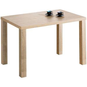 Comforium table manger 120x80 cm coloris sonoma clair non extensible pas cher achat for Carrefour table a manger