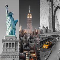 Clementoni - Puzzle 3 x 500 pièces : Triptyque : New York