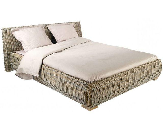 inwood lit en rotin kubu 160x200 cm pas cher achat vente chevet rueducommerce
