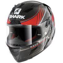 Shark - casque moto intégral Racing en Carbone Race-r Pro Carbon Kolov Drs noir rouge gris brillant L