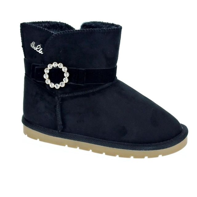 df27228bbb7f8 Lulu - Chaussures Fille Bottine modele Gift Noir - pas cher Achat ...