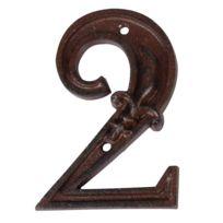 BEST FOR BOOTS - Numéro de maison en Fonte 2 11,4x7,8x1cm