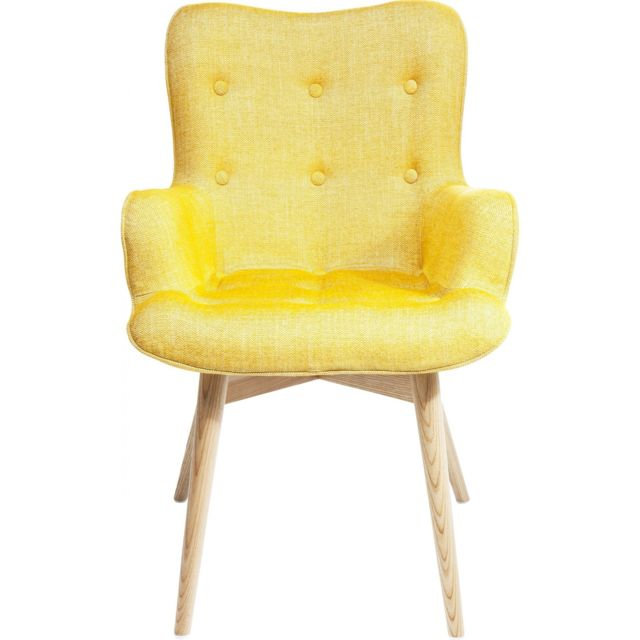 Karedesign Fauteuil Retro Angels Wings Rhythm moutarde Eco Kare Design