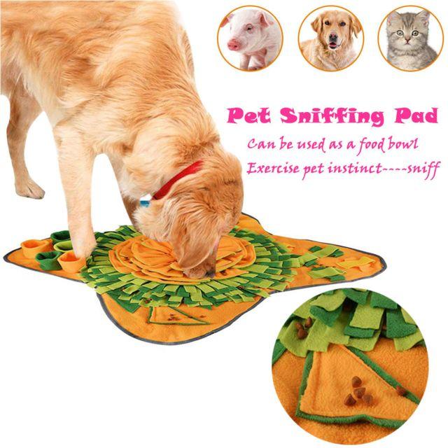 Generic Animaux Jouets Pour Chiens Rondé Pet Pad Formation Lavable Tapis D'Alimentation Pour Chiens Jouets De Rattache Jaune