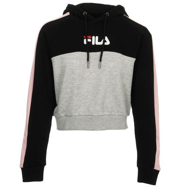 nouveau design les ventes en gros ventes spéciales Fila - Wenda hooded sweat Noir, Gris, Rose - pas cher Achat ...
