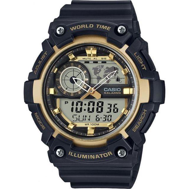 casio montre standard aeq 200w 9avef montre illuminator noire homme achat vente montre. Black Bedroom Furniture Sets. Home Design Ideas