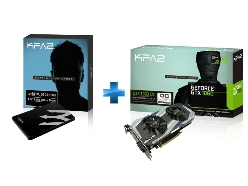 GeForce GTX 1060 OC 6Go DDR5 192bit DP 1.4, HDMI 2.0b, Dual Link-DVI + -GAMERL-120GB-TLC S11