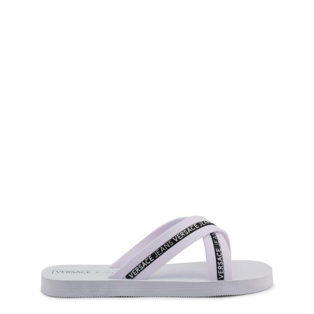 baskets esthétique de luxe Braderie Buzzao - Claquettes blanches Versace Jeans - pas cher Achat ...