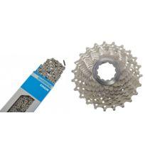 Shimano - Cassette Ultegra Cs-6700 12-30 et chaîne Ultegra Cn-6701 10 vitesses - Kit pignon et chaîne - set argent