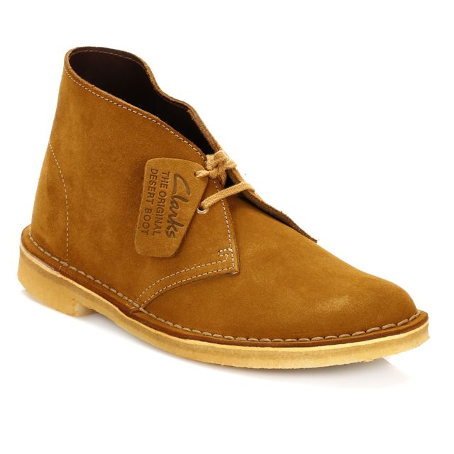 32c305198831f5 Clarks - Womens Bronze & Brown Suede Desert Boots-UK 3 - pas cher Achat /  Vente Boots femme - RueDuCommerce