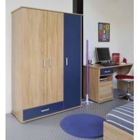 Modern Design - Campus Armoire 3 Portes Rs Oak Royal Blue