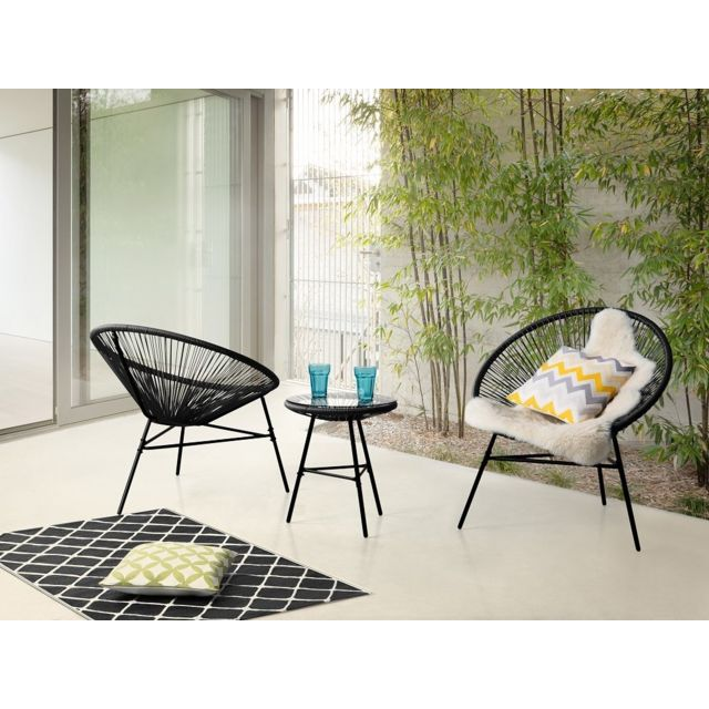 balcon table chaises. Black Bedroom Furniture Sets. Home Design Ideas